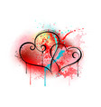 sloppy heart drawing vector image