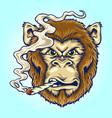 smoke angry monkey vector image