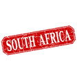 South Africa red square grunge retro style sign vector image vector image