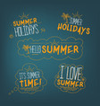 summer badges collection vector image vector image