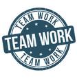 team work grunge rubber stamp vector image vector image