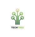 tech tree logo vector image
