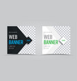 template of square web banners with a place for a vector image vector image