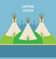 tourist indian tents for outdoor recreation a vector image vector image