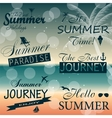 Vintage summer calligraphic elements design labels