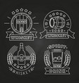 whiskey and drink labels collection on chalkboard vector image vector image
