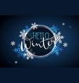 winter banner template with vector image vector image