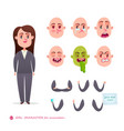 woman emotion faces emoji face icons vector image vector image
