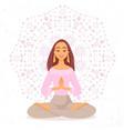 yoga girl mandala vector image vector image