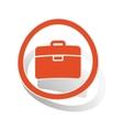 Briefcase sign sticker orange vector image