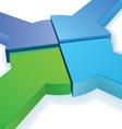equal partnership pie chart vector image