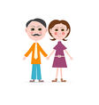 Father and Mother Isolated on white Backgrou vector image