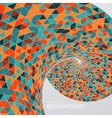 3d abstract polygonal twisted background vector image vector image