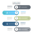5 steps modern and clean business infographics vector image vector image
