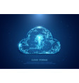 abstract cloud form of a starry sky technology vector image vector image