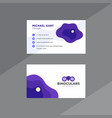 abstract purple and white business card vector image