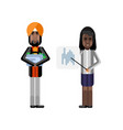 african businesswoman showing financial diagram vector image vector image