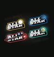 all star retro style sport logo set modern vector image
