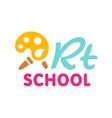 Art school symbol vector image vector image