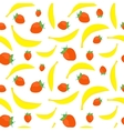 Bananas and strawberries seamless vector image vector image