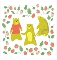 Bear and raspberry vector image
