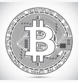 bitcoin coin lined icon vector image