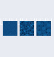 blue color seamless pattern set classic geometric vector image