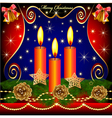 christmas background with candles cones vector image
