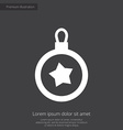 christmas decoration premium icon white on dark ba vector image