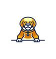 cute dog logo design vector image vector image