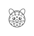 cute leopard wild animal line style icon vector image
