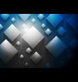 dark blue tech 3d cubes background vector image vector image