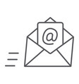 email thin line icon mail and letter mail vector image vector image