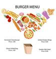 fast food restaurant banner vector image vector image