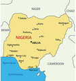 Federal Republic of Nigeria - map vector image vector image