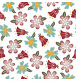 flower seamless pattern with creative flower buds vector image vector image
