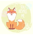fox stylish vector image