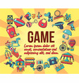 game concept banner cartoon style vector image vector image