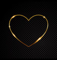 gold glittering star dust valentines day heart vector image vector image