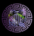 greek decorative emblem pattern abstract vector image
