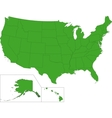 Green USA map vector image vector image