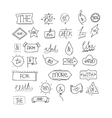 hand drawn ampersands and catchwords vector image vector image