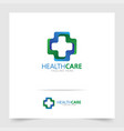health care logo design with modern concept vector image vector image