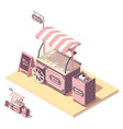 isometric ice cream cart kiosk vector image