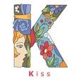 K kiss vector image vector image
