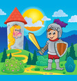 knight theme image 2 vector image vector image