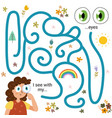 labyrinth maze game for kids - sight i see vector image vector image