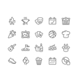 Line Event Icons vector image