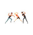 men fighting violent behavior among teenagers vector image vector image