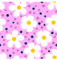 Modern Seamless Pattern with Camomiles vector image